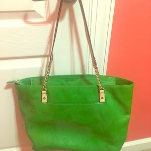 MICHAEL KORS GREEN SPRING PURSE